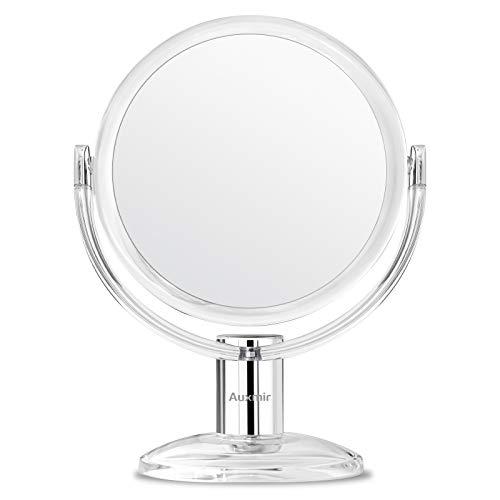 Auxmir Kosmetikspiegel Makeup Spiegel mit 1X/ 10X Vergrößerung,...