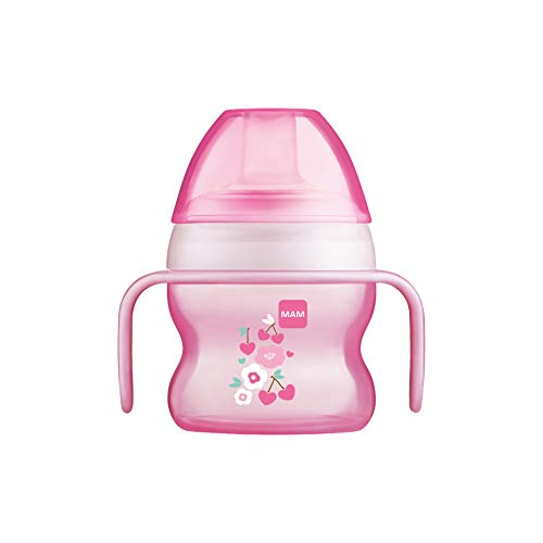 MAM Starter Cup Baby Trinklernbecher (150ml), Trinkflasche für erste...