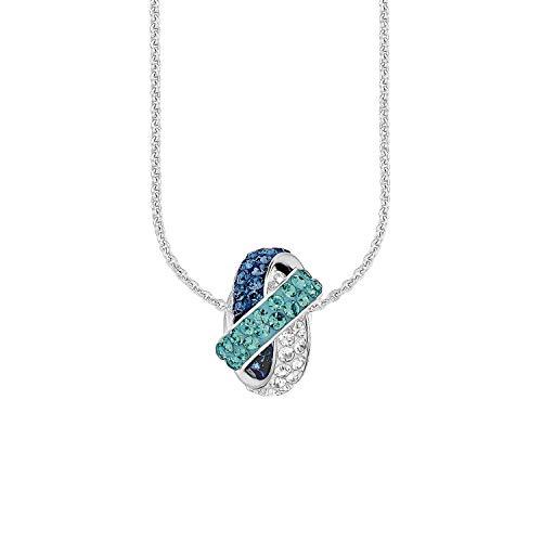Amor Kette mit Anhänger für Damen, Sterling Silber 925, Kristallglas...