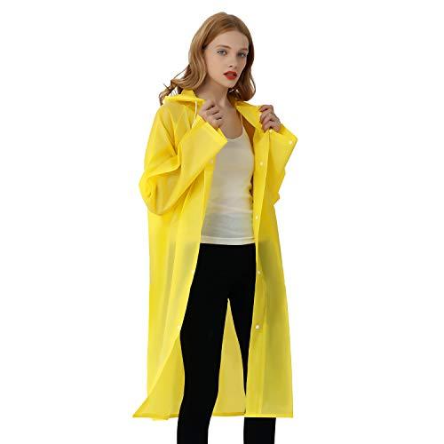 Regenmantel Eva Travel Transparent Regenponcho Regen Zubehör für...