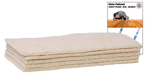 Soft-Sheep- 5x Schafwollpad Polierpads - Parkett Nachölen -...