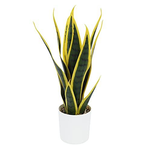 LITLANDSTAR Topf künstliche Pflanzen, 40 cm gefälschte Sansevieria...