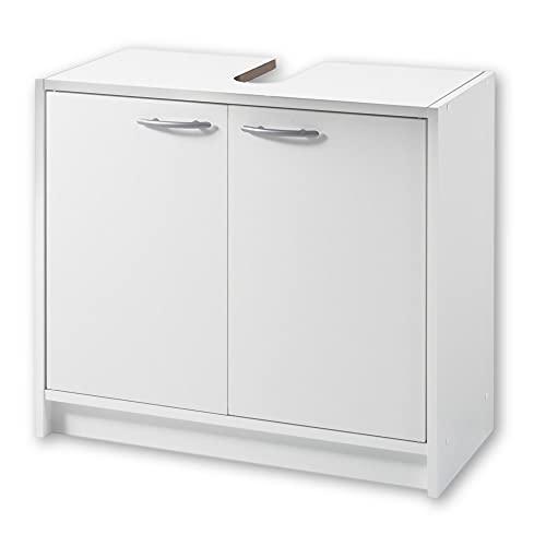 SMASH Badezimmer Waschbeckenunterschrank in Weiß matt - Schlichter...