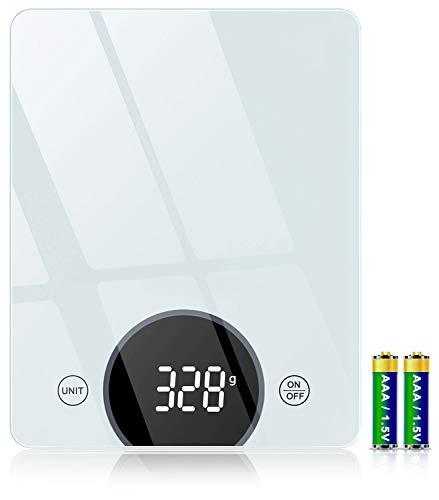 Cocoda Küchenwaage Digital, 10 kg Gehärtetes Glas Waage Küchenwaage...