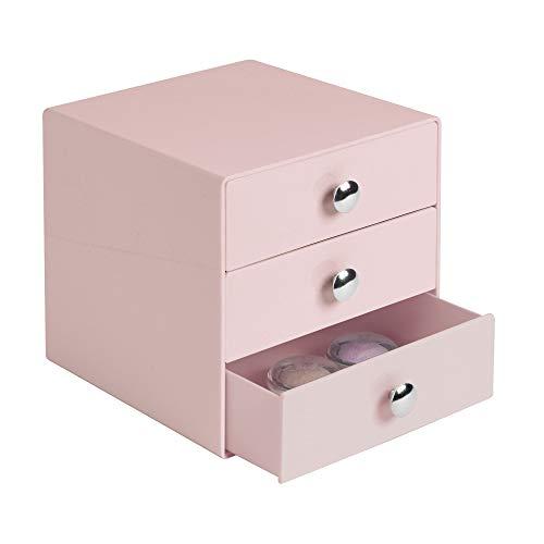 iDesign Make-Up Organizer mit 3 Schubladen, quadratische Schubladenbox...