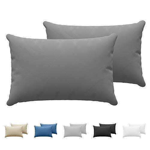 Set mit 2X Baumwolle Kissenbezüge 50 x 70 cm - 100% Jersey Baumwolle...