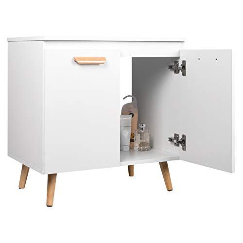 EUGAD Waschbeckenunterschrank Unterschrank Badezimmerschrank...