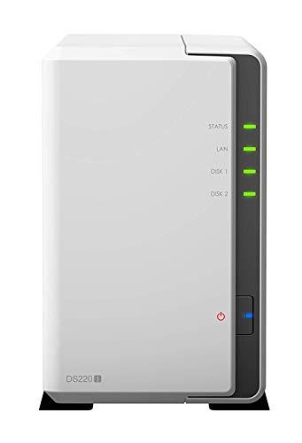 Synology DS220j DiskStation NAS-Server 2-Bay Desktop Server Bundle,...