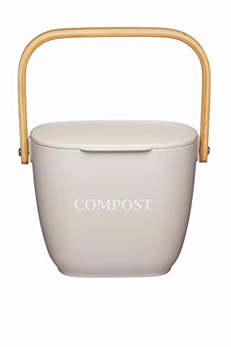 KitchenCraft Natural Elements Komposteimer für die Küche,...