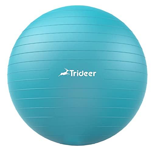 Trideer Dicker Gymnastikball, Anti-Burst Pilates Ball, 45-85 cm...