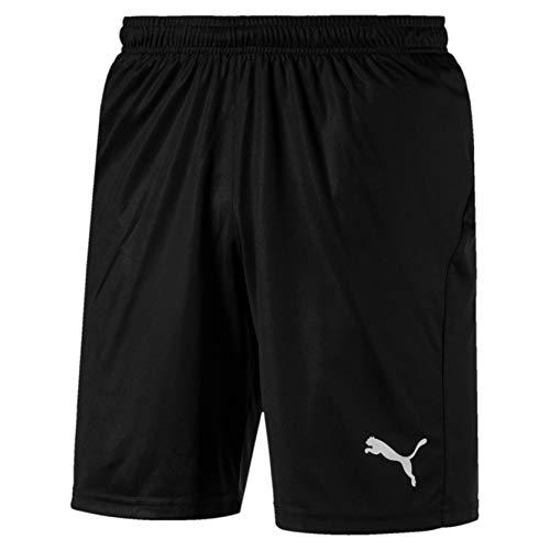 PUMA Herren, LIGA Shorts Core with Brief Hose, Black-White, L