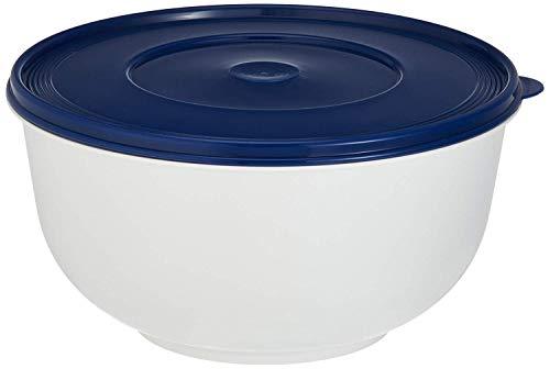 Emsa 2143501200 Hefeteigschüssel mit Deckel, 5 Liter, Weiß/Blau,...