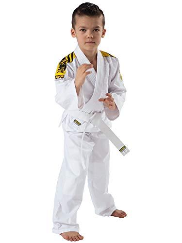 Kwon Kinder Kampfsportanzug Judo Junior, weiß, 130 cm, 551302130
