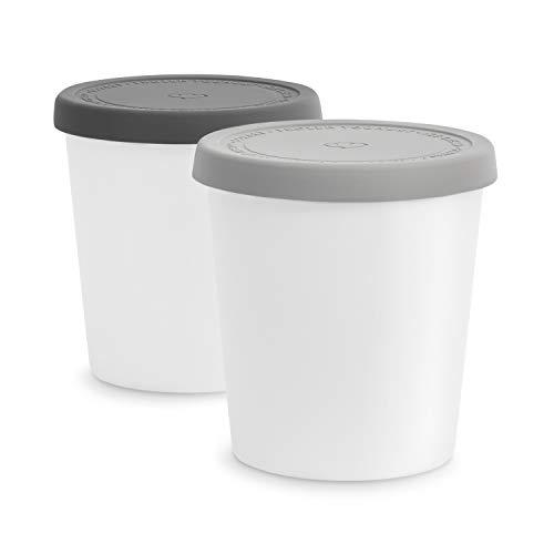 2er-Set Eisbehälter für Speiseeis 1 L, Aufbewahrungsbehälter,...