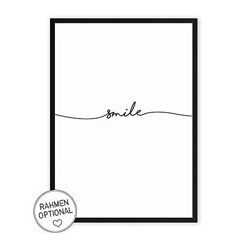 Wunderpixel® Kunstdruck smile - auf wunderbarem Hahnemühle Papier...