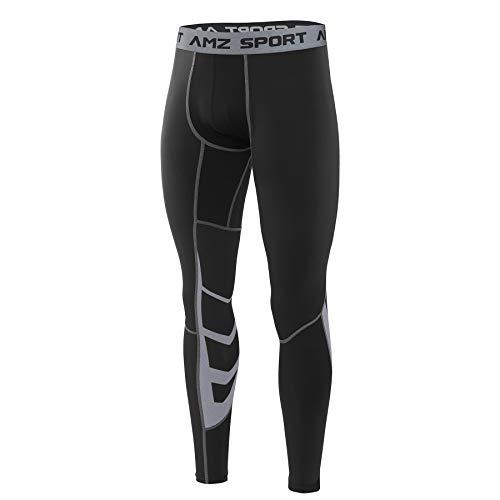 AMZSPORT Herren Fitness Hose Pro Cool Compression Tights...