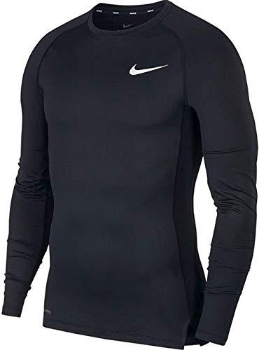 Nike Herren Pro Cool Kompressionsshirt Langarm, schwarz/grau/weiß, L,...