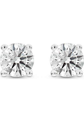 CHRIST Damen-Ohrstecker 585er Weißgold 2 Diamant One Size 87476863