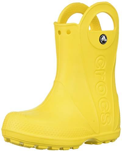 Crocs Handle It Rain Boot, Unisex - Kinder Gummistiefel, Gelb...