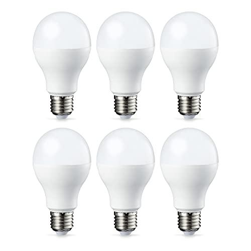 Amazon Basics E27 LED Lampe, 14W (ersetzt 100W), warmweiß, 6er-Pack