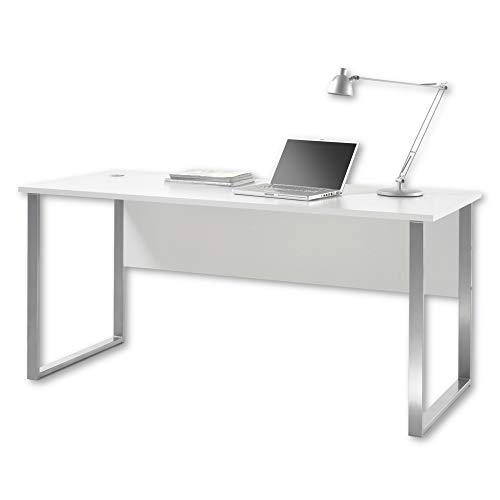Stella Trading OFFICE LUX Schreibtisch inkl. Kabeldurchführung, grau...