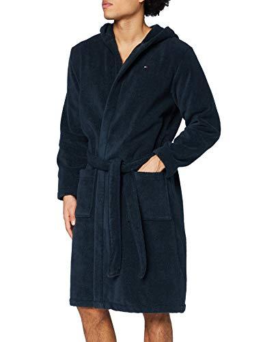 Tommy Hilfiger Herren Icon hooded bathrobe Bademantel, Blau (NAVY...