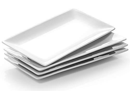 DOWAN Servierplatte Porzellan, Teller Rechteckig, Teller Set,...