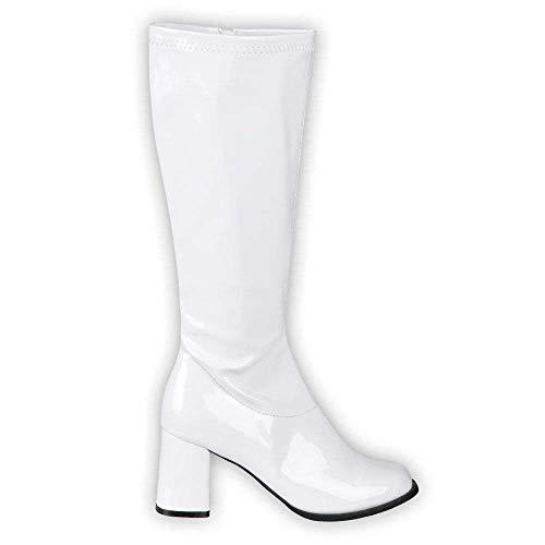 Boland 46213 - Stiefel Retro Weiß, Damen, Reißverschluss,...