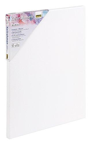 Idena 60004 - Keilrahmen mit Leinwand aus 100% Baumwolle, Grammatur...