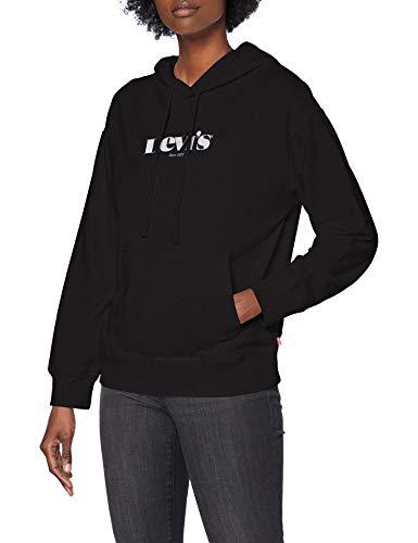Levi's Damen Graphic Standard Sweatshirt, Hoodie New Logo Ii Caviar, L