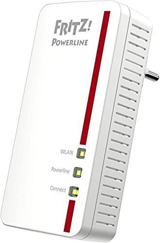 AVM FRITZ!Powerline 1260 Single-Adapter (1.200 MBit/s, WLAN-Access...