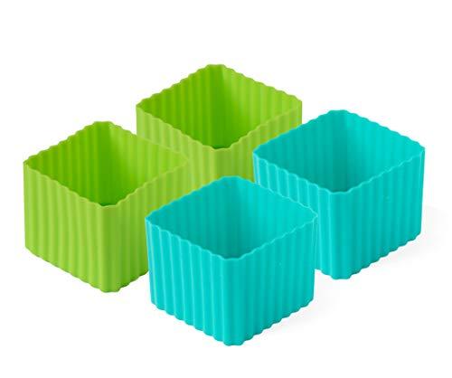 Lekkabox Cups, 4er Set - Silikon Förmchen für saubere Trennung in...
