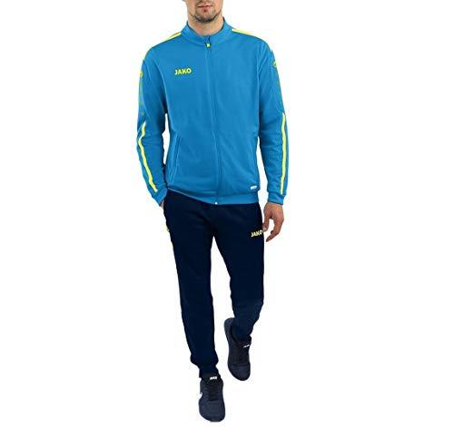 JAKO Kinder Trainingsanzug Polyester Striker 2.0, blau/neongelb, 128,...