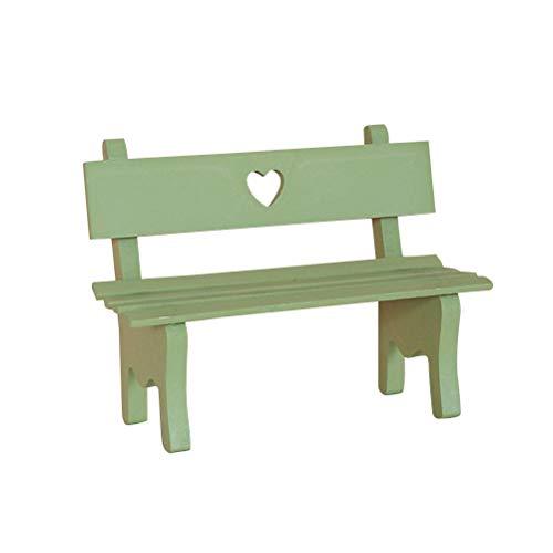 VOSAREA Miniatur Deko Mini Holz Gartenbank Dekorativ Foto Requisiten...