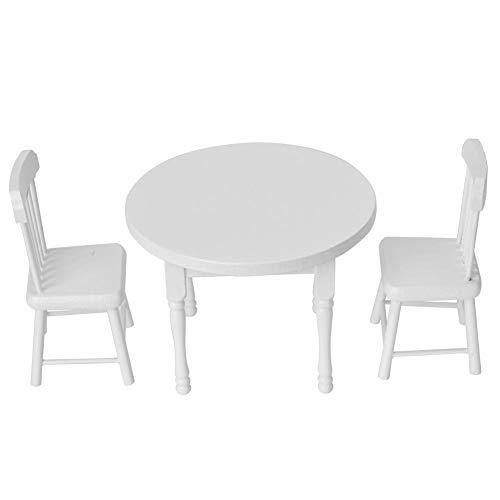 1:12 Puppenhaus Mini Tisch Stuhl Zubehör 3 STÜCKE Set Simulation...