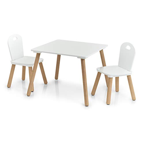 Zeller 13501 Kinder-Sitzgarnitur 'Scandi', 3-tlg., Tisch: ca. 55 x 55...