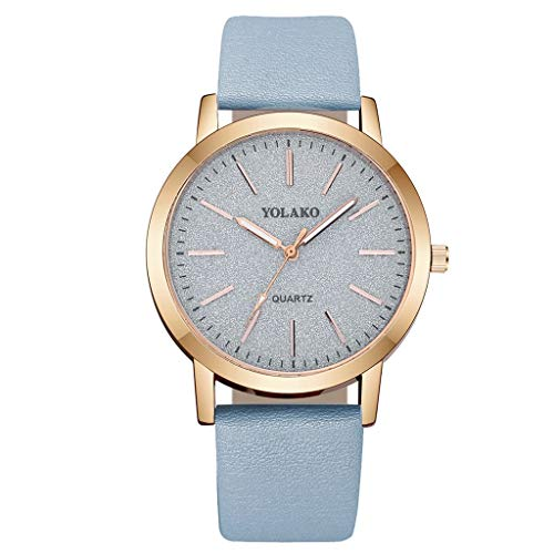 Women Mode Retro Uhren Analog Quarz Armbanduhr mit Paillette,...