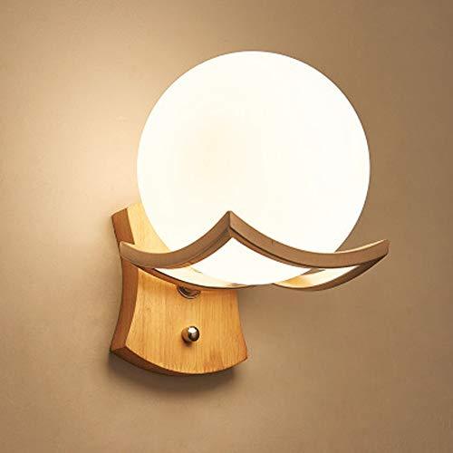 LED Nordic Wandleuchte, Kreative Glas Sphärische Wandleuchte...