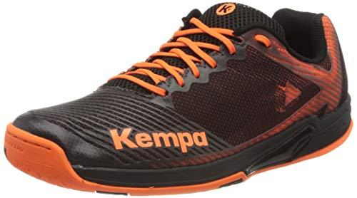 Kempa Herren Wing 2.0 Handballschuhe, Mehrfarbig (Schwarz/Fluo Orange...