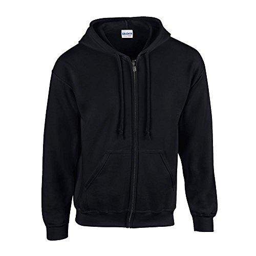 Gildan Heavy Blend Erwachsenen Kapuzen Sweatjacke 18600, Black, XL