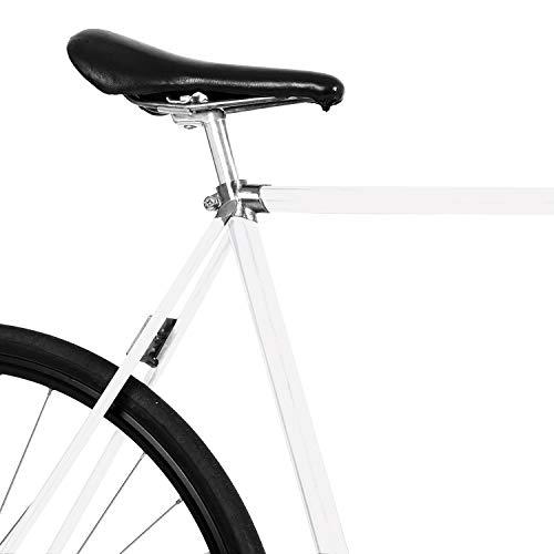 MOOXIBIKE Pearl White Matt metallic Mini Fahrradfolie für Rennrad,...