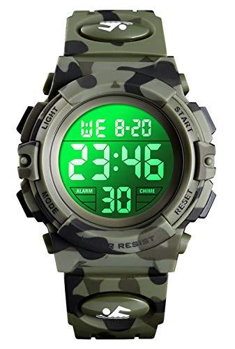 Digitaluhr für Jungen, wasserdichte Sport Uhr Kinder Uhren mit...