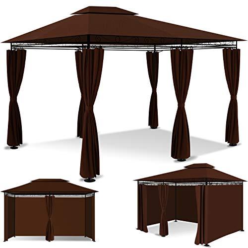 KESSER® - Pavillon 3x4m inkl. Seitenwände mit Reißverschlüsse,...