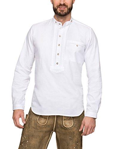 Stockerpoint Herren Renus2 Trachtenhemd, Weiß (Weiß), Medium