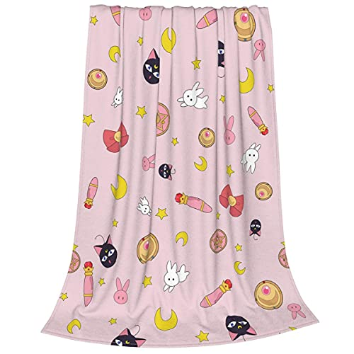 Sailor Moon Decke Flanell Fleece Decke Cat Luna Decke Weiche Plüsch...