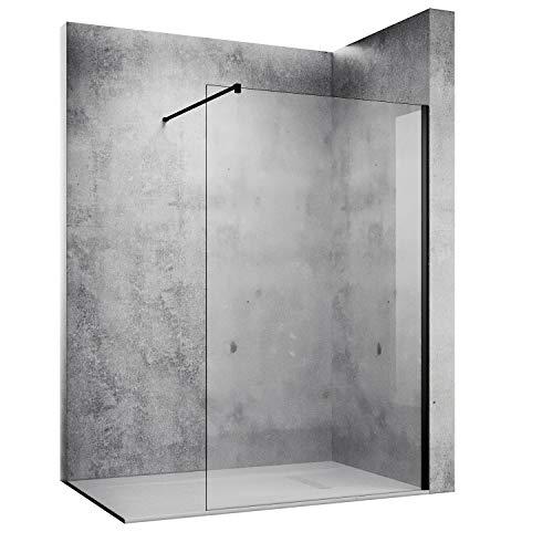SONNI Duschwand 120 x 200 cm schwarz Walk In dusche Black style aus 10...