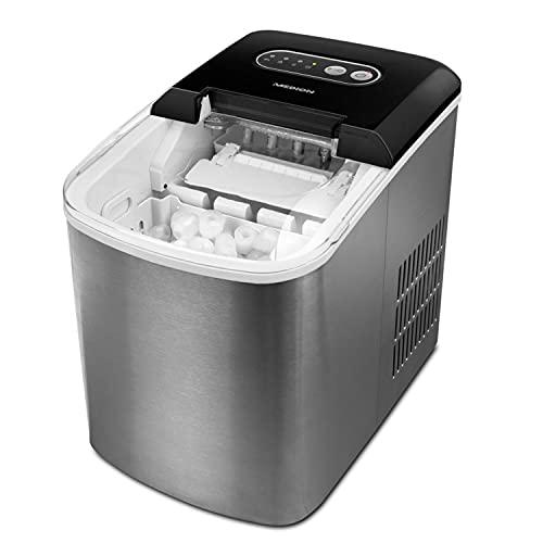 MEDION Eiswürfelmaschine (Eiswürfelbereiter, 2,2 Liter Wassertank,...