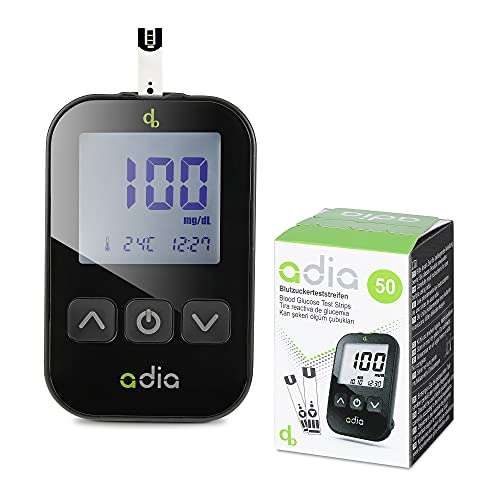 Adia Diabetes-Set, Messeinheit mg, mit 60 Blutzuckerteststreifen,...