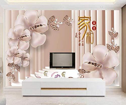 Li Bu Jiao Schmuck Anthurium Blume 3D Hintergrund Wand-200 * 140cm