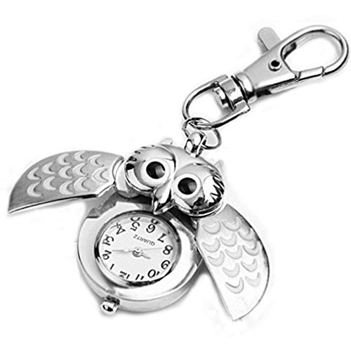 Spaufu – Taschenuhr in Eulenform als Schlüsselanhänger für Auto,...